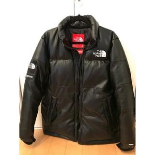 Supreme - supreme TNF leather nuptse jacket  S