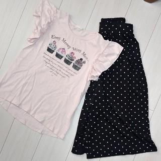 GU - 150cm GU Tシャツ ドットパンツ 女の子 2着