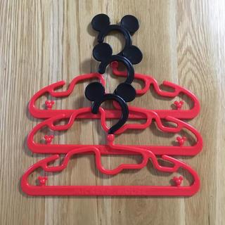 Disney - ミッキーマウス 子ども用ハンガー 3本
