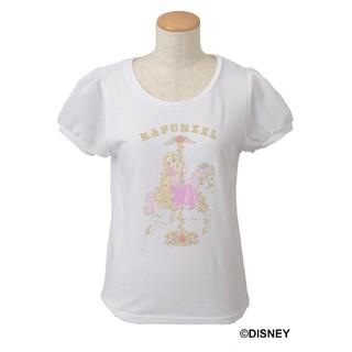 ディズニー(Disney)のTangled 袖シアー Tシャツ [ホワイト](Tシャツ(半袖/袖なし))