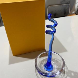 スガハラ(Sghr)のスガハラsghr 一輪挿し コバルトブルー 新品未使用(花瓶)