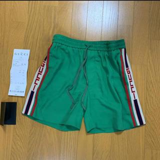 Gucci - 正規品 グッチ 44 GUCCI ライン アセテート ショート パンツ ショート