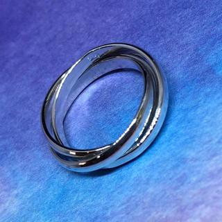 三連 トリニティ シルバー925リング 銀 指輪 シンプル アクセサリー お洒落(リング(指輪))