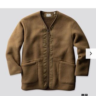 エンジニアードガーメンツ(Engineered Garments)の【美品】Engineered Garments×UNIQLO★フリースコート(ノーカラージャケット)