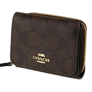 COACH - コーチ COACH 財布 三つ折り ブラウン  新品