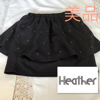 ヘザー(heather)のヘザー ペプラム スカート ミニスカート 春物(ミニスカート)