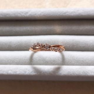 4℃ - カナル4℃ k10 ピンクゴールド リング ダイヤモンド Disney コラボ