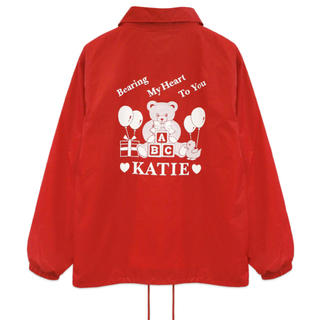 ケイティー(Katie)のKaite SOUVENIR BEAR coach jacket(ナイロンジャケット)