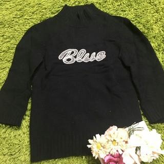 BURBERRY BLUE LABEL - burberryバーバリーブルーレーベル ロゴ入りレディトップス