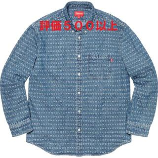 シュプリーム(Supreme)のSupreme Jacquard Logos Denim Shirt 青 L(シャツ)