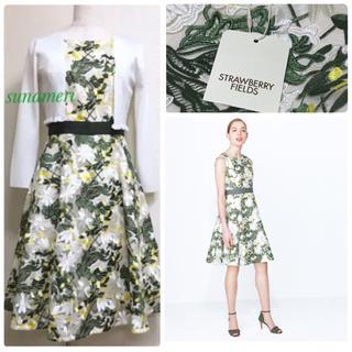 STRAWBERRY-FIELDS - 新品タグ付き カタログ掲載 幻 フラワー 刺繍 ワンピース