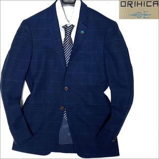 ORIHICA - J3062 超美品 オリヒカ ウインドーペーンアンコンジャケット ネイビー L