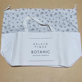 ジェラートピケ(gelato pique)の&ROSY ジェラートピケ ボタニカルフラワー柄 巾着型ストックバッグ(トートバッグ)