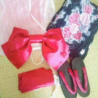 シマムラ(しまむら)の美品 浴衣 レディース 成人 5点セット キレイ カラー 可愛い(浴衣)