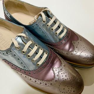 イエナ(IENA)のPertiniペルティニ ドレスシューズ Mixカラー 36サイズ 23cm前後(ローファー/革靴)