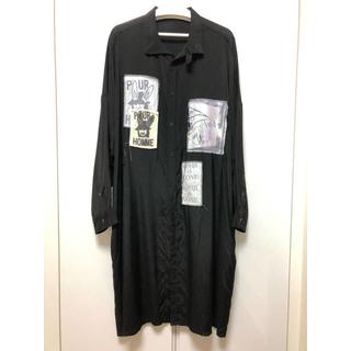 Yohji Yamamoto - yhoji yamamoto 19ss パッチワークシャツ