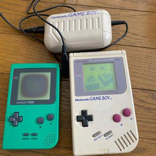ゲームボーイ - ゲームボーイ+充電式ACアダプター+ゲームボーイカラー(グリーン/ジャンク)