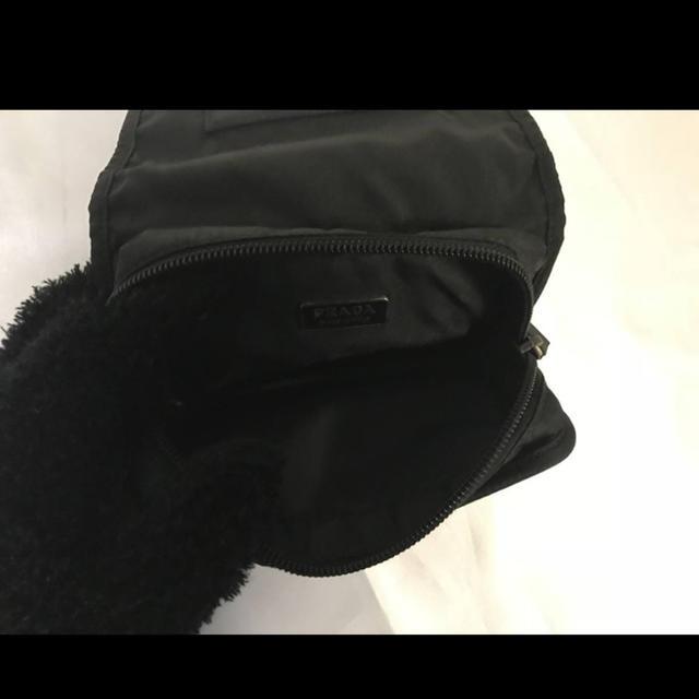 PRADA(プラダ)の美品本物プラダPRADAナイロンポーチ化粧コスメケースクラッチバッグ旅行バック黒 レディースのファッション小物(ポーチ)の商品写真