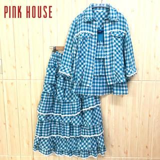 PINK HOUSE - 《PINKHOUSE》セットアップ(L) アンサンブル 3点セット フリル