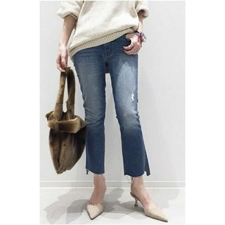 L'Appartement DEUXIEME CLASSE -  MOTHER INSIDER CROP BLUE DENIM