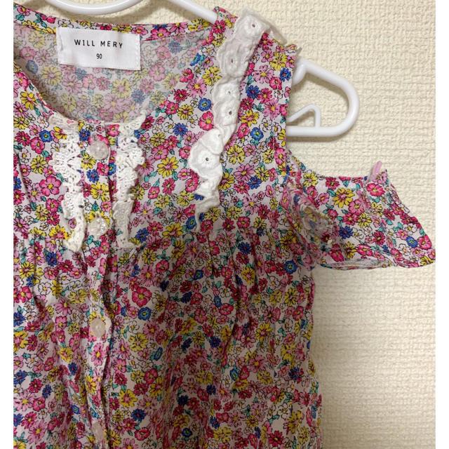 WILL MERY(ウィルメリー)のトップス ウィルメリー Tシャツ 90 女の子 花柄 キッズ/ベビー/マタニティのキッズ服女の子用(90cm~)(Tシャツ/カットソー)の商品写真