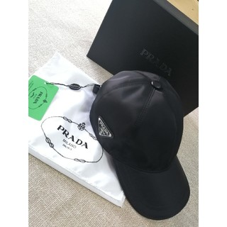 PRADA - 即納!人気 プラダprada キャップ 黒 男女通用 野球帽