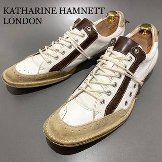 キャサリンハムネット(KATHARINE HAMNETT)の◎洗浄済【KATHARINE HAMNETT】25.5cm スニーカー 革靴 男(スニーカー)