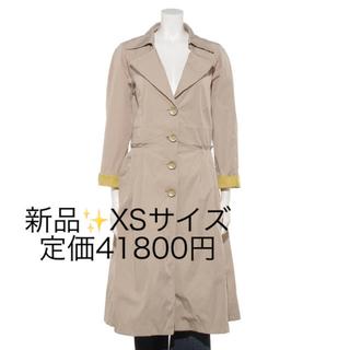リナシメント(RINASCIMENTO)の新品✨定価41800円 軽量 お洒落なカラーリングのコート イエロー系 XS(ロングコート)