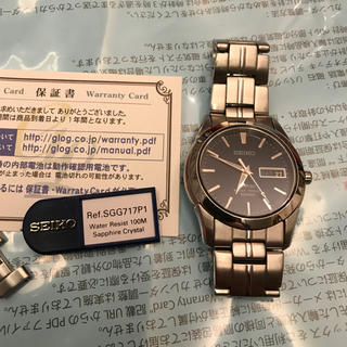 SEIKO - 腕時計SEIKO セイコー SAPPHIRE WATER RESIST 100M
