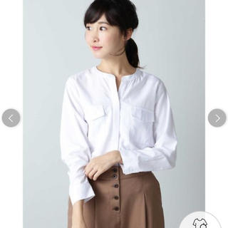 NATURAL BEAUTY BASIC - 新品タグ付き★ナチュラルビューティーベーシック ダブルポケットシャツ