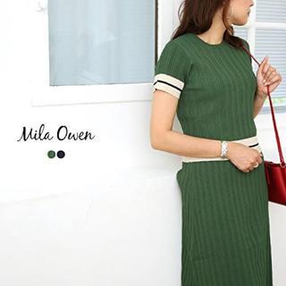 Mila Owen - ミラオーウェン ライン入りランダムリブsetup