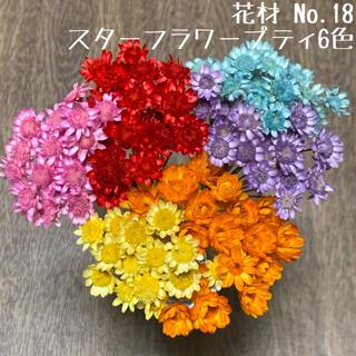 花材 No.18 スターフラワー・プティ6色セット(ドライフラワー)