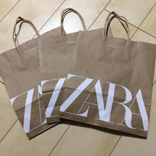 ザラ(ZARA)のZARA ショップ袋 3枚(ショップ袋)