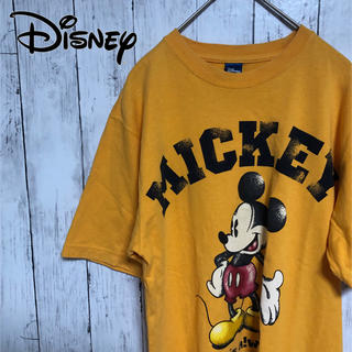 Disney ディズニー ミッキー tシャツ イエロー 週末価格(Tシャツ/カットソー(半袖/袖なし))