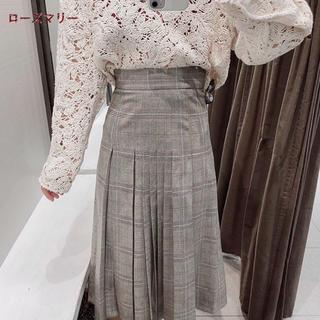 ザラ(ZARA)のチェックプリーツスカート(ロングスカート)