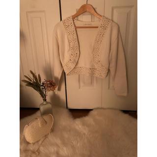 ロキエ(Lochie)のFlower jacket / 花柄 白 ジャケット (ノーカラージャケット)