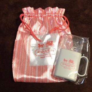 コーチ(COACH)のコーチ☆歯ブラシセット&巾着(歯ブラシ/デンタルフロス)