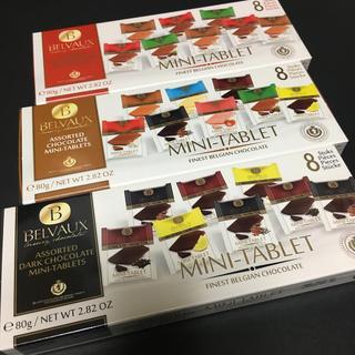 チョコレート(chocolate)のBELVAUX ベルボー ミニタブレット型 チョコレート  3種類セット (菓子/デザート)