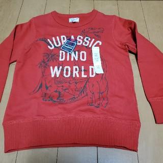 マザウェイズ(motherways)のマザウェイズ   トレーナー 130cm 恐竜 春物(Tシャツ/カットソー)