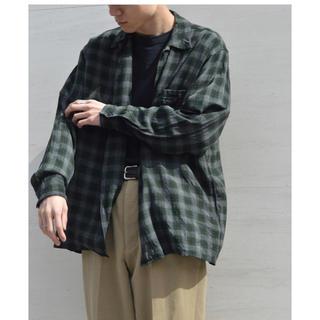コモリ(COMOLI)のcomoli   レーヨンオープンカラーシャツ サイズ2(シャツ)