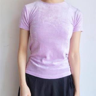 エディットフォールル(EDIT.FOR LULU)のbaserange ベロアTシャツ ピンク(Tシャツ(半袖/袖なし))