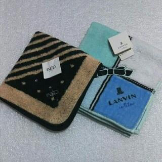 LANVIN en Bleu - INED &ランバンen Bleu☆タオルハンカチ2枚セット