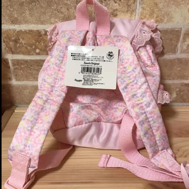 サンリオ(サンリオ)の新品未使用 タグ付き マイメロディ子供用リュック キッズ/ベビー/マタニティのこども用バッグ(リュックサック)の商品写真
