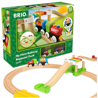 ブリオ(BRIO)のBRIO (ブリオ)  レールウェイ マイファースト ビギナーセット(電車のおもちゃ/車)