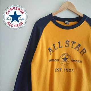 コンバース(CONVERSE)の834 コンバース ALL STAR デカロゴ ラグラン スウェット トレーナー(スウェット)