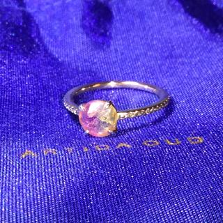 アガット(agete)の美品 アルティーダウード トルマリン パヴェダイヤモンド エタニティリング 7号(リング(指輪))