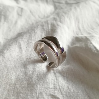 Ungrid - 925 wide line ring  🍒 ラスト1点