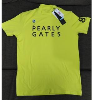 パーリーゲイツ(PEARLY GATES)の月末》パーリーゲイツ COOL-MAX 半袖タートル ライム 5 新品未使用(ウエア)