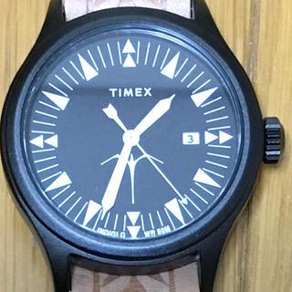タイメックス(TIMEX)のtimex タイメックス keone ケオネ・ヌーンズ コラボ 黒 美中古(腕時計(アナログ))