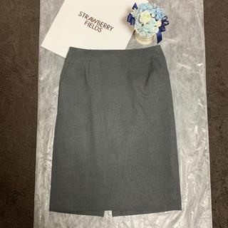 ストロベリーフィールズ(STRAWBERRY-FIELDS)のタイトスカート/チャコールグレー/サイズ1(ひざ丈スカート)